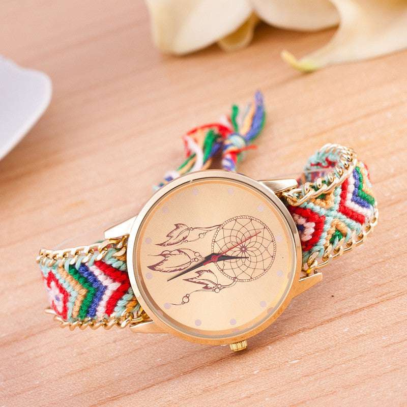 National Pink Style Woven DIY Watch - Oh Yours Fashion - 7