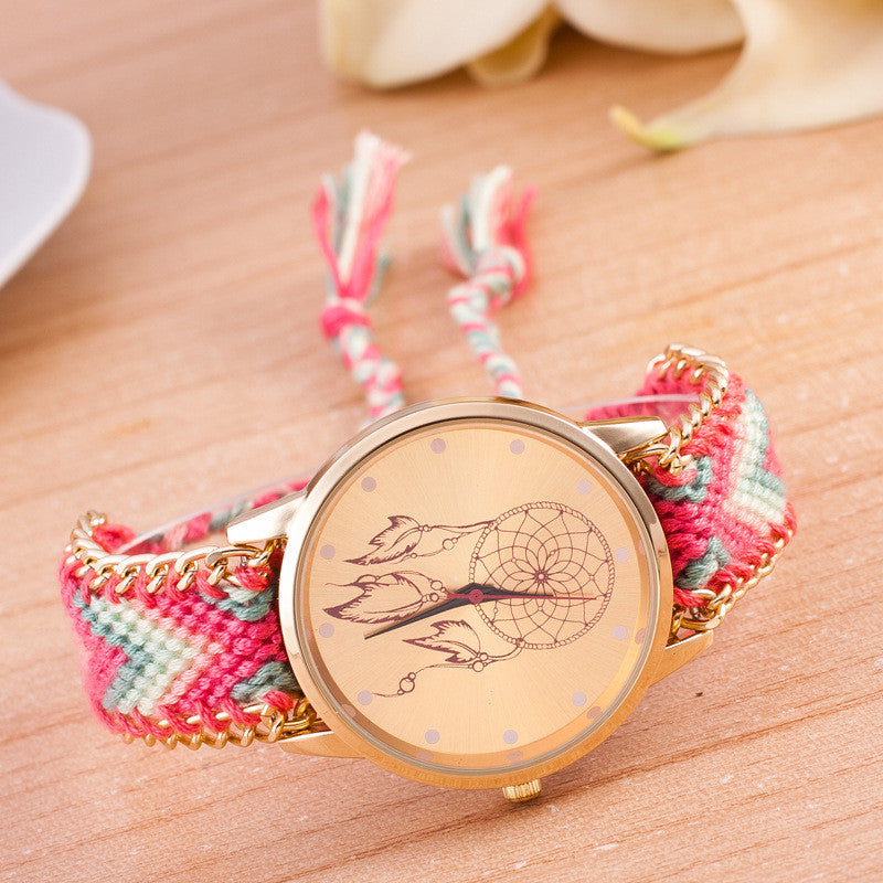 National Pink Style Woven DIY Watch - Oh Yours Fashion - 4