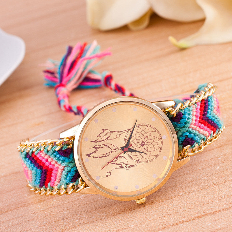 National Pink Style Woven DIY Watch - Oh Yours Fashion - 10