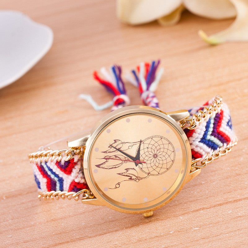 National Pink Style Woven DIY Watch - Oh Yours Fashion - 9