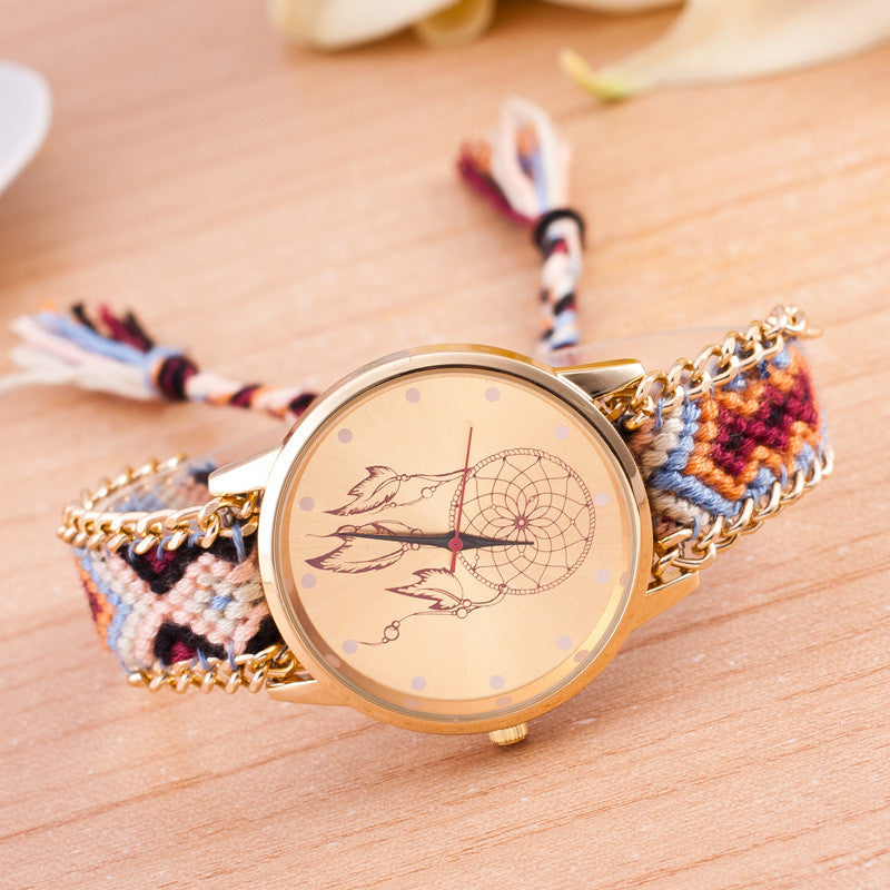 National Pink Style Woven DIY Watch - Oh Yours Fashion - 2