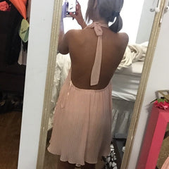 Backless Sleeveless Loose Beach Short Dress - Oh Yours Fashion - 4