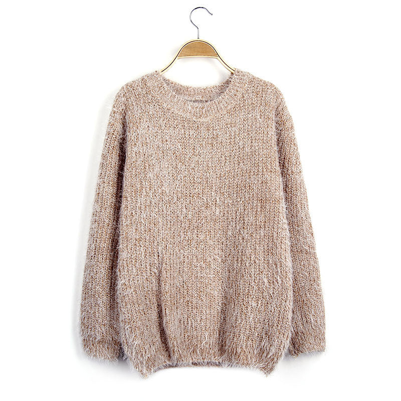 Scoop Solid Mohair Pullover Short Loose Sweater - Oh Yours Fashion - 6