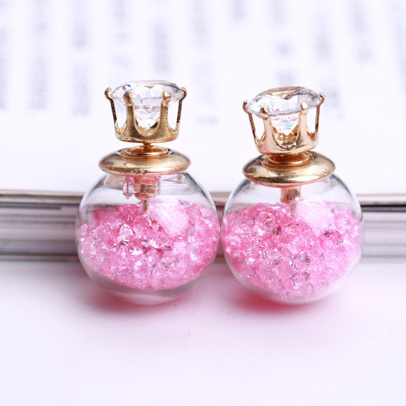 Color Quicksand Zircon Crystal Ball Earring - Oh Yours Fashion - 16