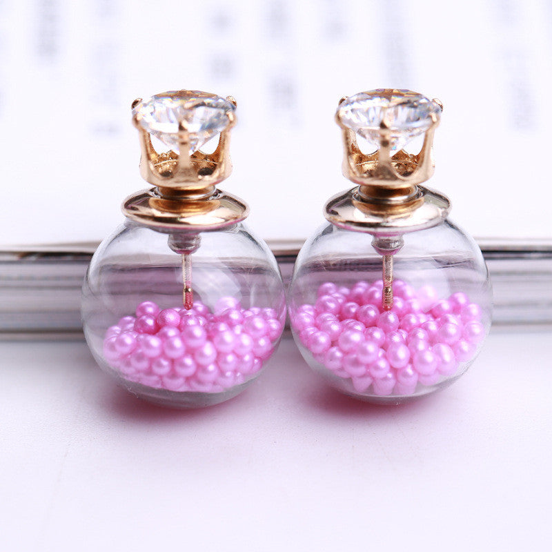 Color Quicksand Zircon Crystal Ball Earring - Oh Yours Fashion - 4