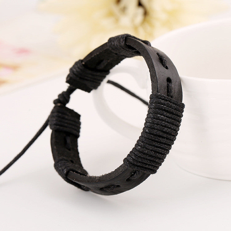 Simple Hand Woven Leather Bracelet - Oh Yours Fashion - 2