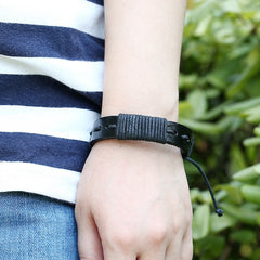 Simple Hand Woven Leather Bracelet - Oh Yours Fashion - 3
