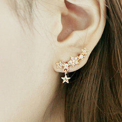 Shining Crystal Little Stars Allergy Earring - Oh Yours Fashion - 1