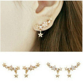 Shining Crystal Little Stars Allergy Earring - Oh Yours Fashion - 2