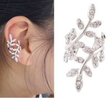 Cute Flower Leaves Earring Clip