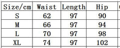 Black High Waist Elastic Perspective Side Falbala Pants