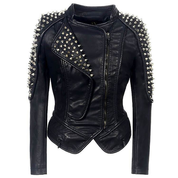 Rivet Studded Black Punk Jacket