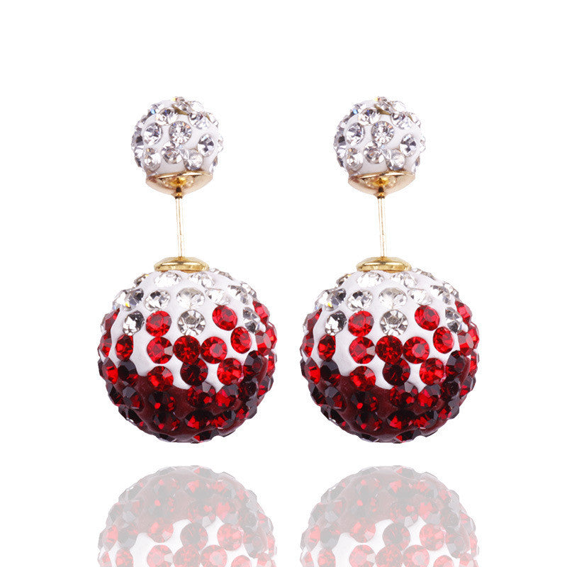 Crystal Double Shambhala Ball Earring - Oh Yours Fashion - 6