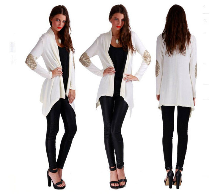 Asymmetric Cardigan Splicing Long Blouse - Oh Yours Fashion - 4