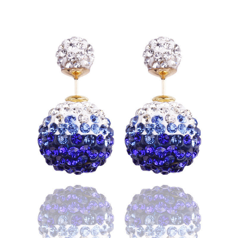 Crystal Double Shambhala Ball Earring - Oh Yours Fashion - 13