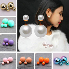 Candy Color Big Little Pearl Earring - Oh Yours Fashion - 1