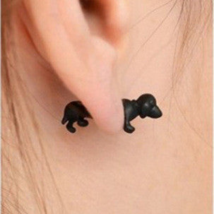 3D Cute Dog Through Single Earring - Oh Yours Fashion - 1