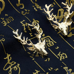 Golden Antlers Elk Christmas Brooch - Oh Yours Fashion - 4