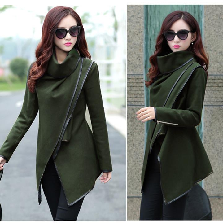 Long Irregular Thickening Woolen Overcoat - Meet Yours Fashion - 6