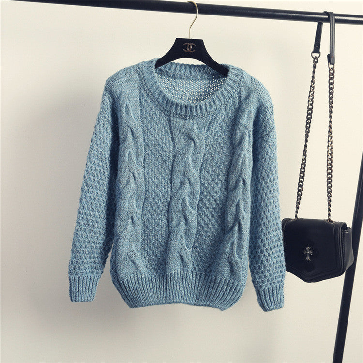 Pull over Loose Pure Color Long Sleeve Sweater - Oh Yours Fashion - 8