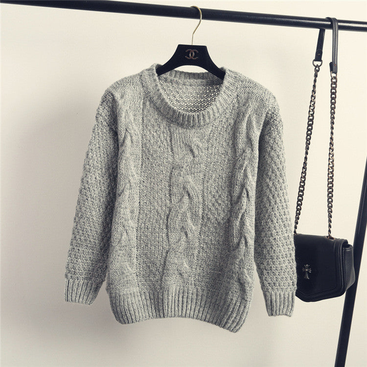 Pull over Loose Pure Color Long Sleeve Sweater - Oh Yours Fashion - 6