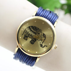 Elephant Print Multilayer Leather Watch - Oh Yours Fashion - 6