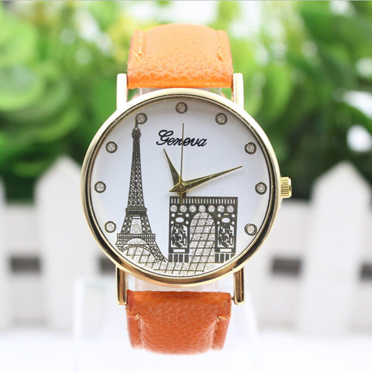 Building Design Print Leather Watch - Oh Yours Fashion - 6