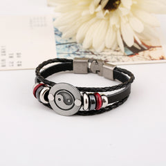Alloy Gossip Leather Beaded Bracelet - Oh Yours Fashion - 3