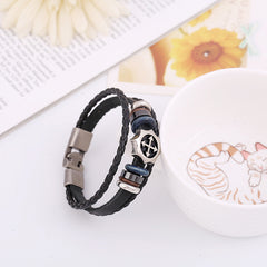Arrow Cross Leather Woven Bracelet - Oh Yours Fashion - 3