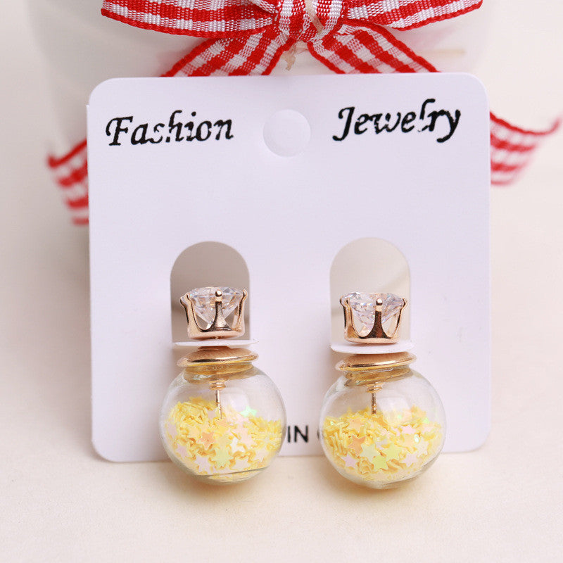 Fashion Glass Ball Color Star Earring - Oh Yours Fashion - 7