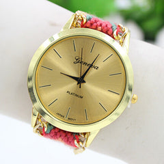 Handmade DIY Woven Bracelet Watch - Oh Yours Fashion - 1