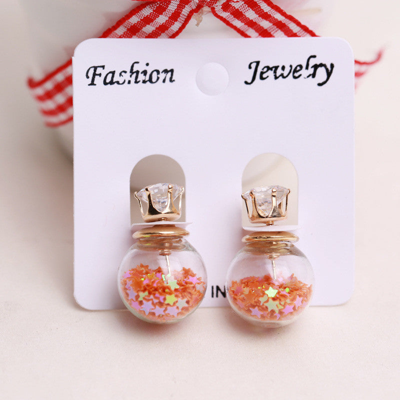 Fashion Glass Ball Color Star Earring - Oh Yours Fashion - 3