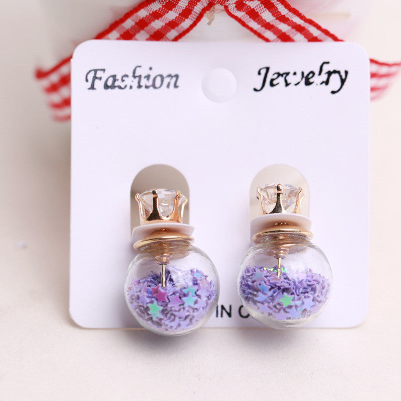 Fashion Glass Ball Color Star Earring - Oh Yours Fashion - 9