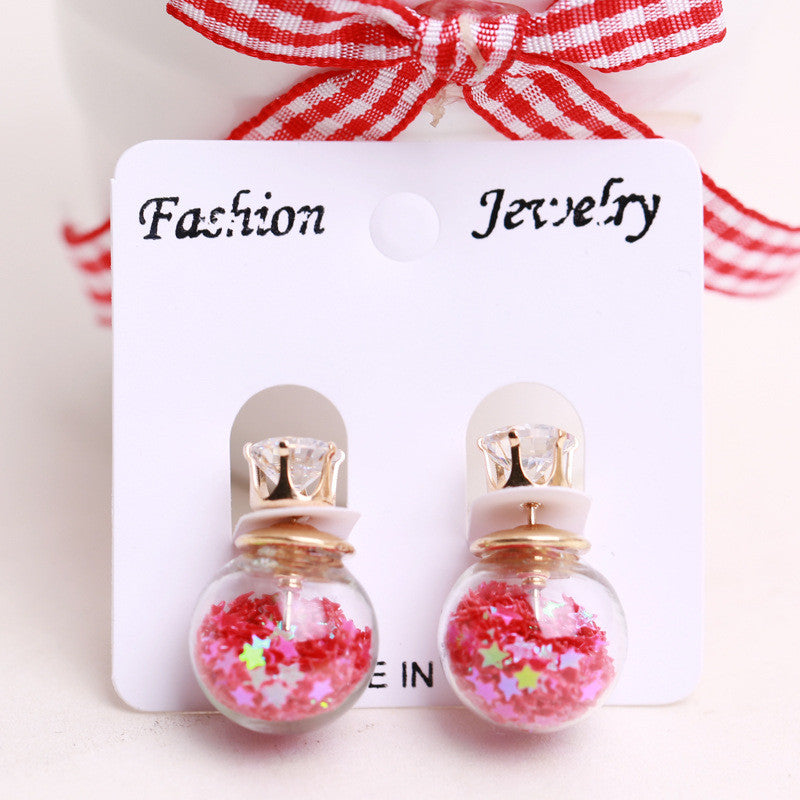 Fashion Glass Ball Color Star Earring - Oh Yours Fashion - 6