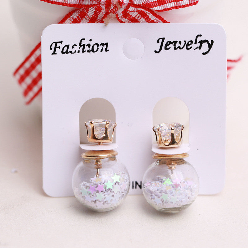 Fashion Glass Ball Color Star Earring - Oh Yours Fashion - 10