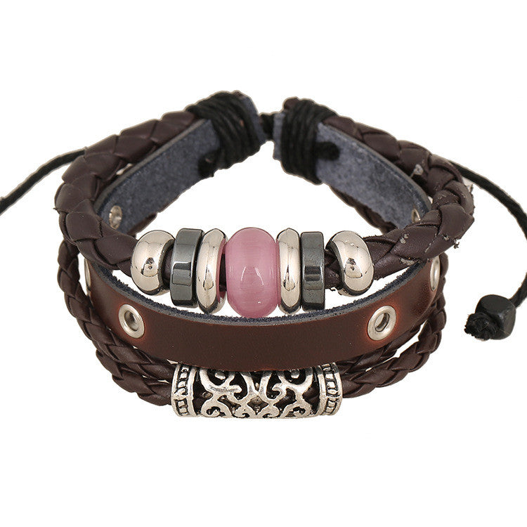 Personality Beaded Multilayer Leather Bracelet - Oh Yours Fashion - 4