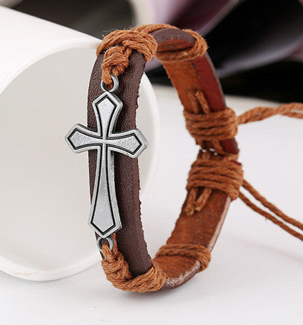 Personality Cross Woven Bracelet - Oh Yours Fashion - 4