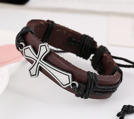 Personality Cross Woven Bracelet - Oh Yours Fashion - 2