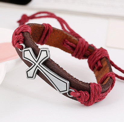 Personality Cross Woven Bracelet - Oh Yours Fashion - 1