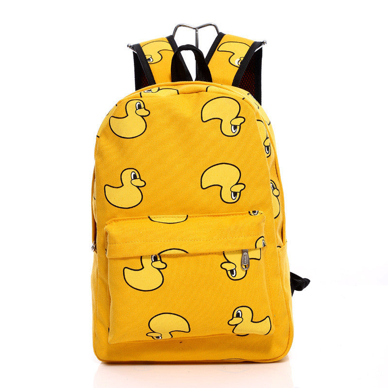 Lovely Korean Canvas Casual Backpack Bag - Oh Yours Fashion - 5
