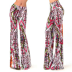 Color Geometry Print High Waist Wide Leg Pants - Oh Yours Fashion - 1