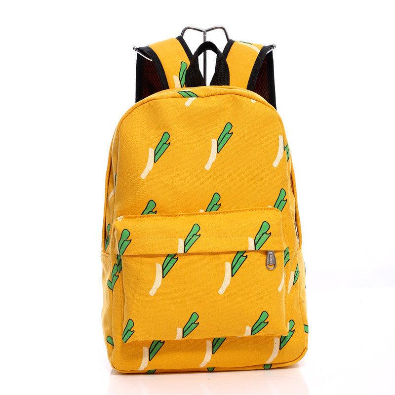 Lovely Korean Canvas Casual Backpack Bag - Oh Yours Fashion - 4