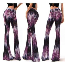 Flower Print Long Wide Leg Skinny Pants - Meet Yours Fashion - 2