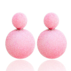 Korea Style Velvet Ball Fashion Earring - Oh Yours Fashion - 2
