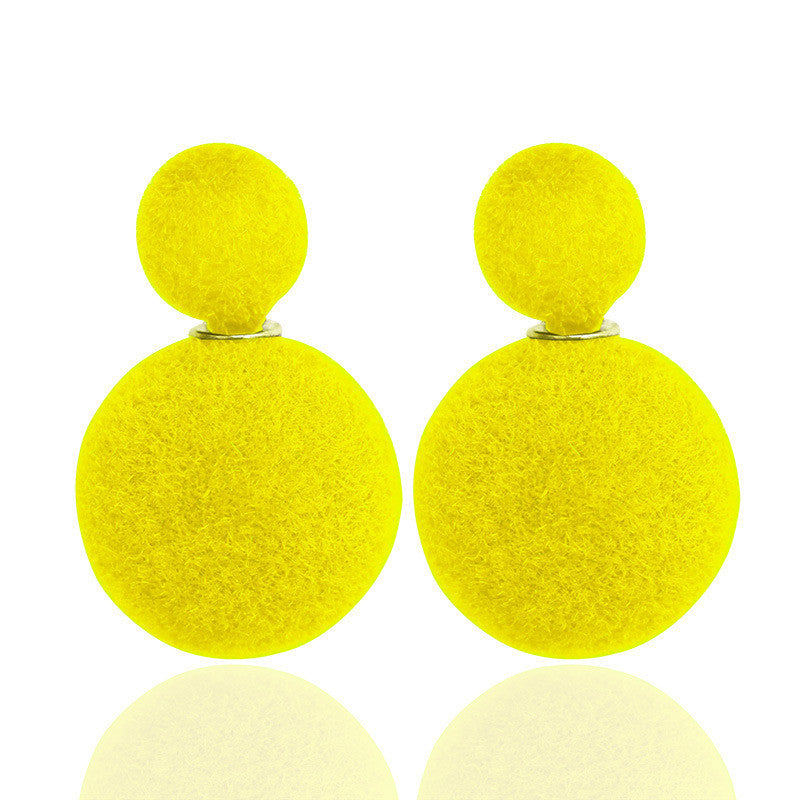 Korea Style Velvet Ball Fashion Earring - Oh Yours Fashion - 9