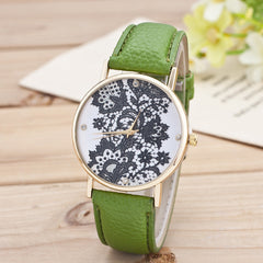 Black Floral Print Watch - Oh Yours Fashion - 4