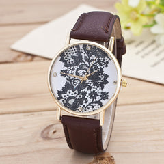 Black Floral Print Watch - Oh Yours Fashion - 11