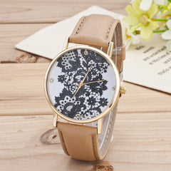 Black Floral Print Watch - Oh Yours Fashion - 9