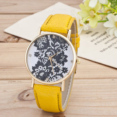 Black Floral Print Watch - Oh Yours Fashion - 2