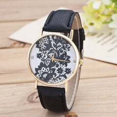 Black Floral Print Watch - Oh Yours Fashion - 5